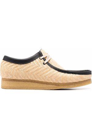 Clarks Wallabees raffia-weave shoes