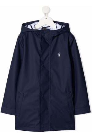 Ralph Lauren Pony logo hooded raincoat