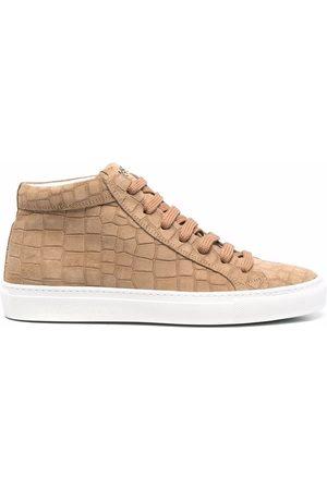 HIDE&JACK Croc-effect high-top sneakers