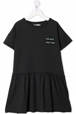 Le pandorine Logo crew-neck shift dress