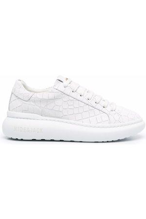 HIDE&JACK Croc-effect leather sneakers