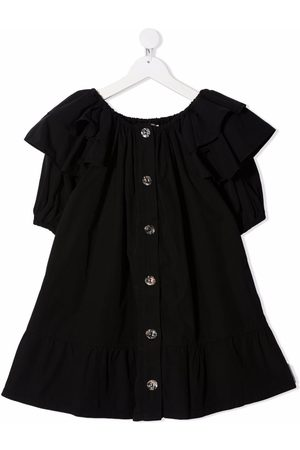 Le pandorine Button-down ruffle dress