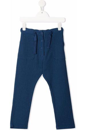 Emile et ida Plissé straight cotton trousers