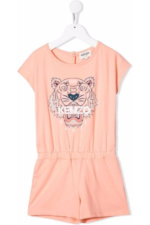 Kenzo Tiger-print cotton playsuit