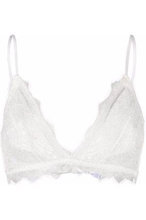 ANINE BING Triangle lace bra