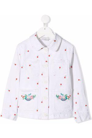 Stella McCartney Floral-embroidered denim jacket