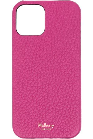 MULBERRY Men Phone Cases - Grained leather iPhone 12 case