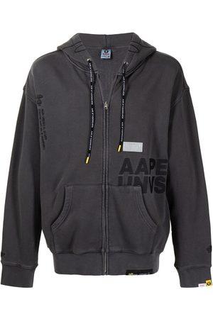 AAPE BY A BATHING APE Logo-print zipped hoodie