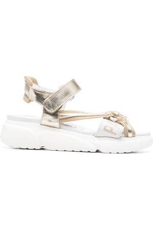 Patrizia Pepe Metallic-effect sandals