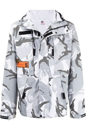 AAPE BY A BATHING APE Camouflage-print hooded jacket