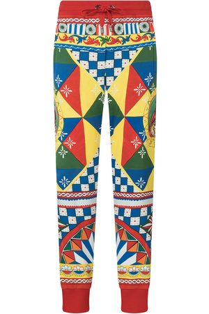 Dolce & Gabbana Women Pants - Multi-panel geometric-print track pants