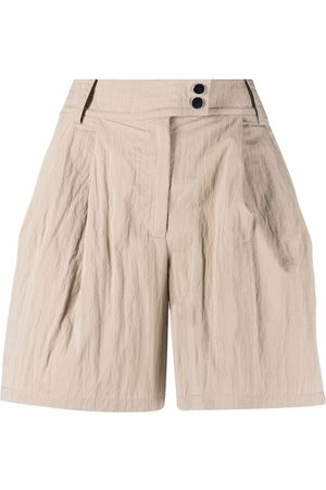 Armani High-waist pleated shorts