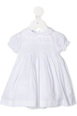 SIOLA Smocked-panelled dress