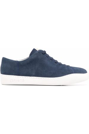 Camper Lace-up low top suede sneakers