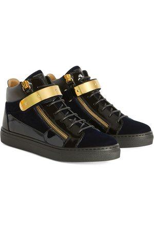 Giuseppe Zanotti Kriss 1/2 velvet-effect sneakers