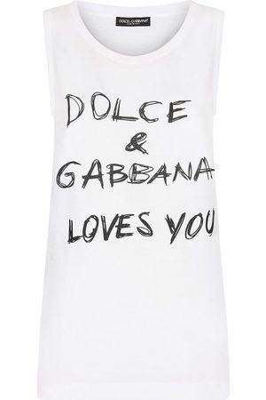 Dolce & Gabbana Slogan-print sleeveless top