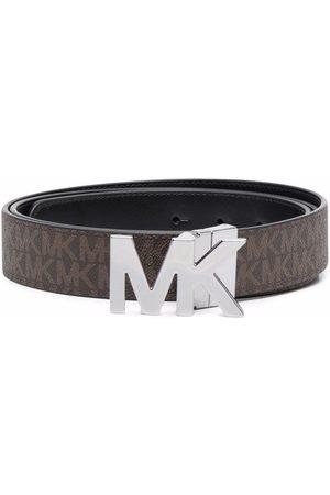 Michael Kors Logo-print leather belt