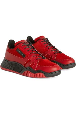 Giuseppe Zanotti Talon Jr suede-trim sneakers