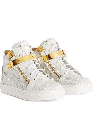 Giuseppe Junior Kriss 1/2 python-effect sneakers