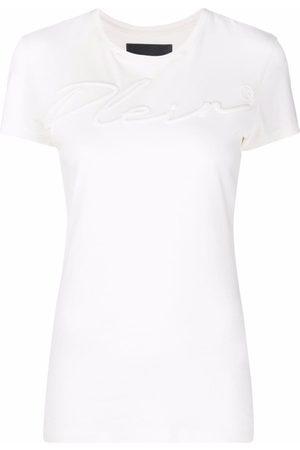 Philipp Plein Logo-embroidered cotton T-shirt