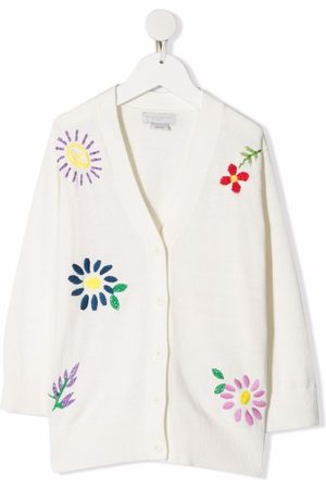 Stella McCartney Floral-embroidered wool cardigan