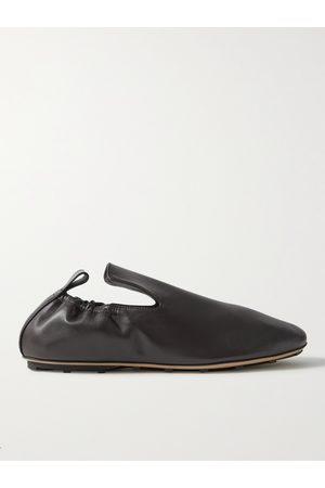 Bottega Veneta Lattice Leather Loafers