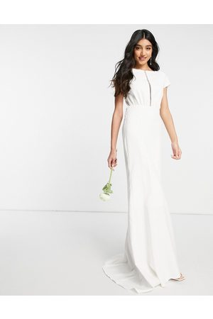 Y.A.S Bridal maxi dress with empire line waist and cut out front in