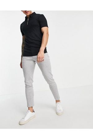ASOS Super skinny smart jogger in jersey with drawcord waistband