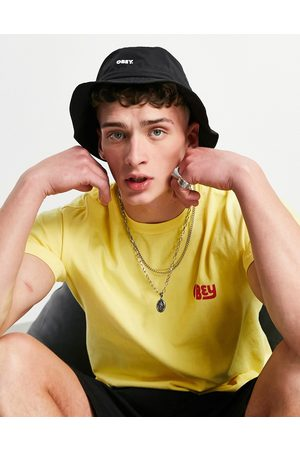 Obey Jazz bucket hat with drawstring in