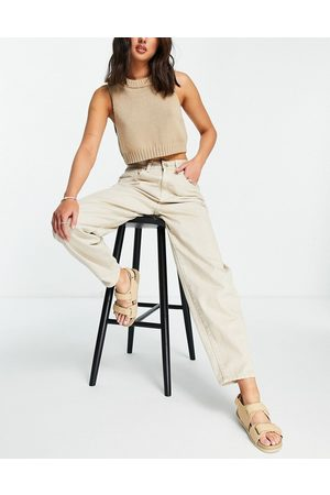 Cotton:On High rise mom jean in sand