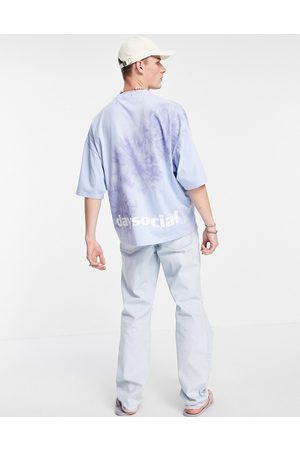 ASOS Day Social ASOS Daysocial oversized t-shirt with placement tie dye in blue