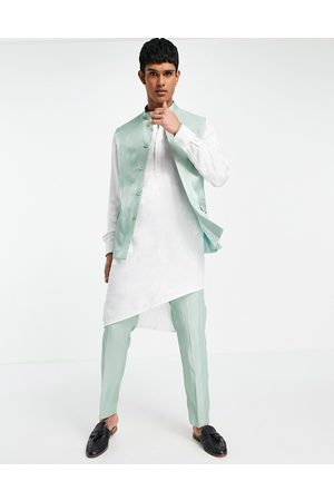 ASOS Wedding slim suit trousers in high shine