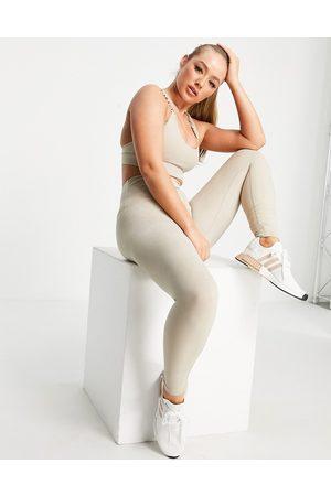LORNA JANE Ankle biter leggings in stone-Neutral