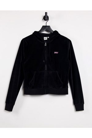 Vans Together Forever velour hoodie in