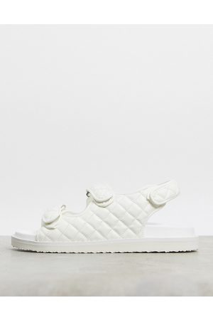 ASOS Quilted sandal with back strap in