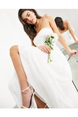 ASOS EDITION Women Maxi Dresses - Lyra ruched bandeau wedding dress