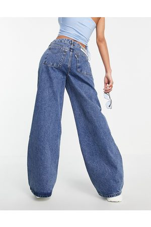 The Ragged Priest Baggy skater jeans in indigo wash