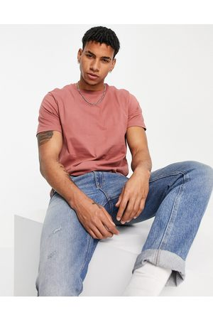 Topman Classic fit t-shirt in burgundy
