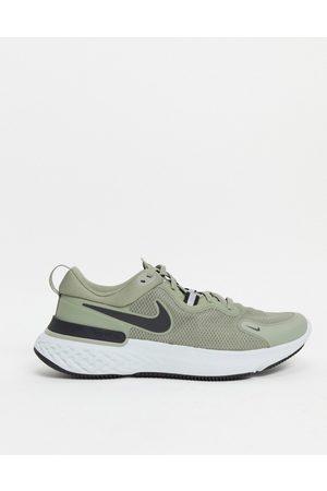 Nike React Miler trainers in khaki