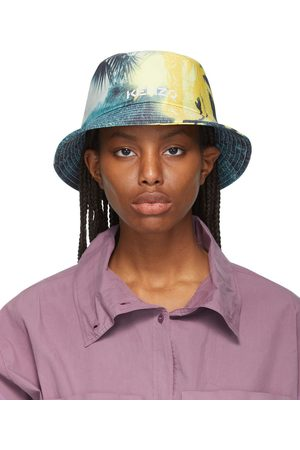 Kenzo Yellow High Summer Tropical Graffiti Bucket Hat