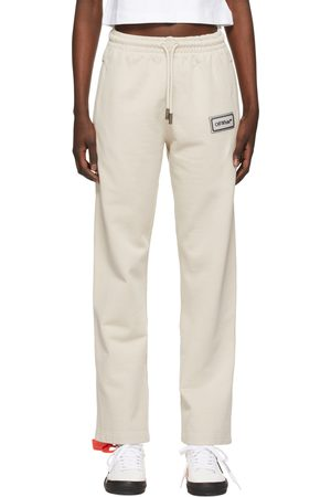 Off-White Beige Logo Patch Lounge Pants