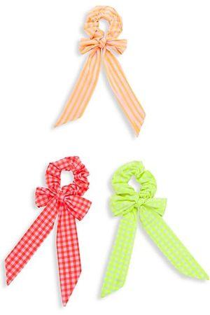 Bari Lynn 3-Piece Gingham Hair Tie Set