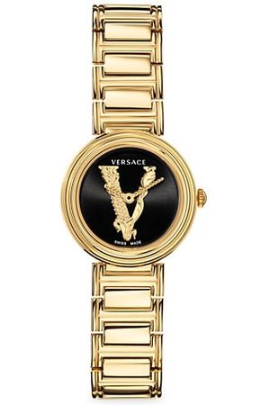 Versace Virtus Mini Goldtone Stainless Steel Bracelet Watch