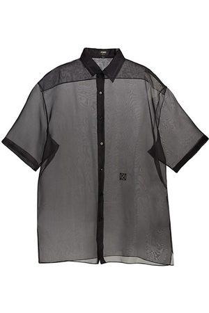Fendi Woven Silk Transparent Shirt