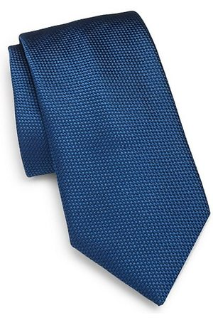 Charvet Men Neckties - Micro Pattern Silk Tie