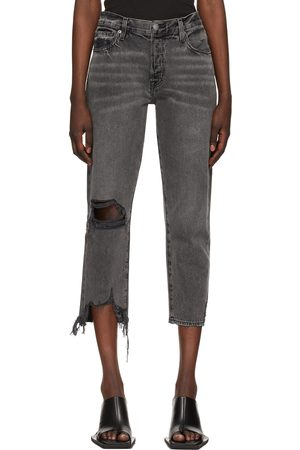 Frame Grey 'Le Slouch Crop' Jeans