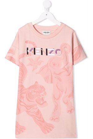 Kenzo Logo-embroidered T-shirt dress