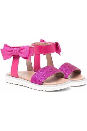 TWINSET Kids Bow-detail glitter sandals