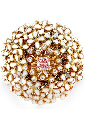 Pragnell 18kt yellow Wildflower Parsley pink diamond ring