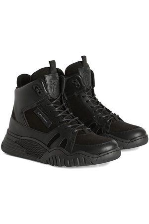 Giuseppe Zanotti Boys Sneakers - Logo-patch lace-up sneakers
